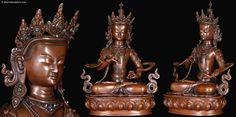 Vajrasattva symbolizes the purification of deluded perceptions that obscure enlightened minds.  This lost wax method copper sculpture is a one of a kind statue, hand cast by the very talented artists of the beautiful country of Nepal. Every piece is truly unique!