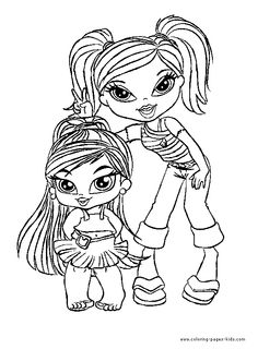 bratz color page cartoon characters coloring pages color plate coloring sheetprintable coloring