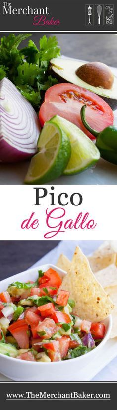 Pico de Gallo.  An easy fresh salsa that has the extra bonus of avocado.  It's the perfect dip or topping for salsa and guacamole lovers!