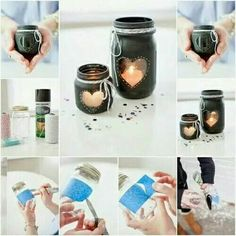 Recycle bottle into candle holder