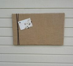 Burlap pinboard with macrame cord or Jute Twine Vision or