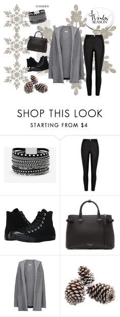 """""""Winter season"""" by carolina-esquivel ❤ liked on Polyvore featuring White House Black Market, River Island, Converse, Burberry and Chinti and Parker"""
