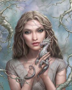 Elf Fantasy elf and baby dragon Elfen Fantasy, Dragon Artwork, Dragon Pictures, Fantasy Pictures, Fairy Pictures, Baby Dragon, Dragon Lady, Pet Dragon, Wow Art
