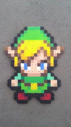 Items similar to Link Legend of Zelda: Minish Cap Bead Sprite on Etsy Perler Bead Templates, Pearler Bead Patterns, Perler Patterns, Pearler Beads, Fuse Beads, Pixel Art, Geek Perler, Pixel Pattern, Perler Bead Art