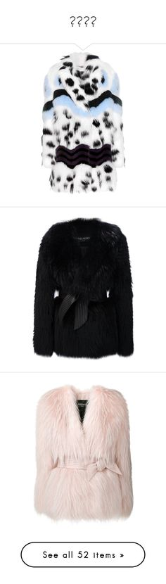 """Шубы"" by sashulya-7 ❤ liked on Polyvore featuring outerwear, coats, jackets, fendi, fur, white, multi colored coat, fendi coat, fur coat and multi colored fur coat"