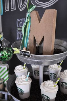 Awesome Starbucks Birthday Party! See more party ideas at CatchMyParty.com!