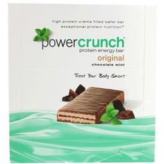POWER CRUNCH BAR,CRUNCH,CHOC MINT ORGN, 40 GRM CASE_12 by Power Crunch -- Awesome products selected by Anna Churchill