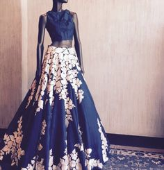 Manish Malhotra # modern bride # cocktail look # hand crafted # Indian fashion Pakistani Outfits, Indian Outfits, Ethnic Fashion, Asian Fashion, Women's Fashion, Mumbai, Desi Clothes, Indian Clothes, Lehenga Designs