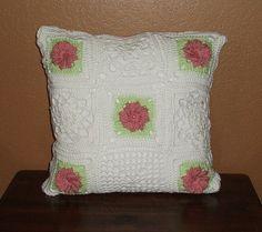 White Rose Pillow