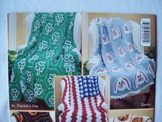 Crochet Blanket Pattern Book Holiday Afghans by CozyHomeCrochet