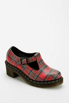 Dr. Martens Sophia Plaid Heeled Oxford