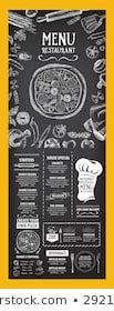 Images, photos et images vectorielles de stock similaires de Restaurant Food Menu Design Chalkboard Background - 196454786 similaires | Shutterstock Cafe Menu, Menu Restaurant, Food Backgrounds, Menu Template, Templates, Conception, Menu Design, Images, Photos