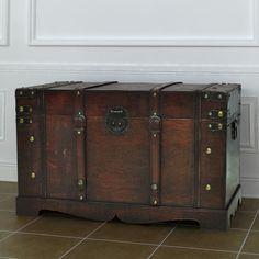 Vintage Large Wooden Treasure Chest [1/1]