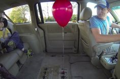 Simple But Mindblowing Helium Balloon Experiment. The pendulum acts completely predictably, swinging back when the van accelerates and forward when it slows to a stop. The helium balloon, however, doesn't act like Newton said it would at all. Read more at http://www.iflscience.com/physics/simple-mindblowing-helium-balloon-experiment#ERbEyJiGb2Kt1mpI.99