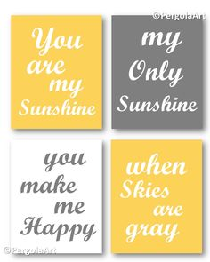 A personal favorite from my Etsy shop https://www.etsy.com/listing/253637827/yellow-and-gray-nursery-decor-printable
