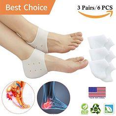 7eb9bd4502 Heel Cups Plantar Fasciitis Inserts Gel Pads Cushion Pain Crack Running 3  Pairs