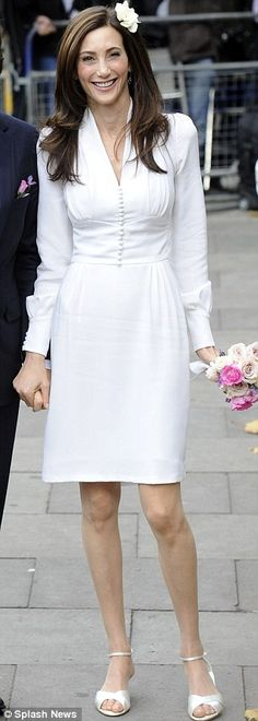 make the skirt past the knees and a tad fuller, and tada = perfect dress for the bride