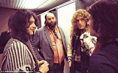 Rare pic: From left..Jimmy Page, LZ Mgr. Peter Grant, Robert Plant and John Bonham.