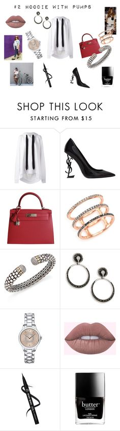 """""""Hoodie or a dress"""" by maria-chamourlidou ❤ liked on Polyvore featuring Marques'Almeida, Yves Saint Laurent, Hermès, Chiara Ferragni, EF Collection, John Hardy, Plevé, Christian Dior and Butter London"""