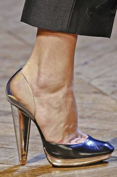 Clear heels present at Yves-saint-laurent and Chanel FW12