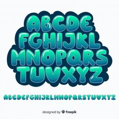 Discover thousands of free-copyright vectors on Freepik Cool Alphabet Letters, Hand Lettering Alphabet, Alphabet Design, Graffiti Alphabet, Graffiti Lettering Fonts, Doodle Lettering, Creative Lettering, Brush Lettering, Doodle Fonts