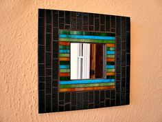 Stained glass mosaic mirror. on Etsy, $85.00