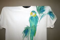 Hand Painted Parrot T Shirt Large. $24.00, via Etsy.