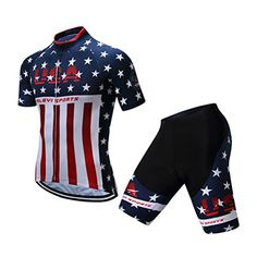 Amazon.com  Uriah Men s Cycling Jersey Shorts Sets Short Sleeve Gel Padded  USA Eagle Size 4XL(CN)  Sports   Outdoors 719677f40