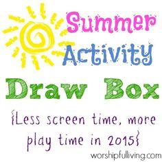 Summer Activity Draw Box - Worshipful Living