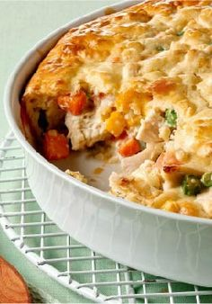 Savory Chicken Pot Pie — When a chicken pot pie recipe bubbles and oozes this much deliciousness in every bite, you know you're home.