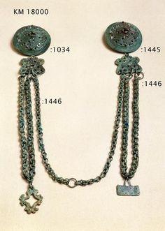 Chain arrangement from Eura grave 34 ca 800-1050