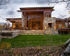 Contemporary Rustic modern rustic mountain home - modern mountain homes to take you