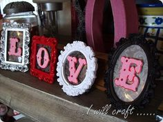 Valentine Display - make them magnetic and change our for different events!