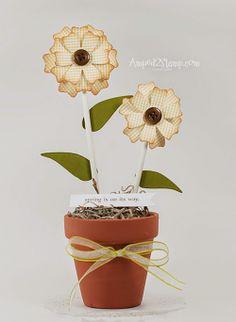 Amuse Studio Flowers by Debbie Davis www.Amped2stamp.com