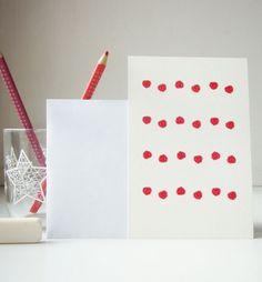 raspberries greetings card, postcard