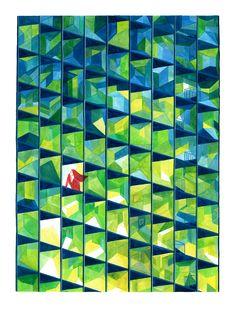 The illustrator Mügluck Illustration Sketches, Children's Book Illustration, Book Illustrations, Geometric Art, Art World, Childrens Books, Graphic Design, Prints, Painting
