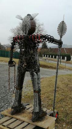 metall kunst roboter junk art garten figur skulpturen pinterest metall kunst und. Black Bedroom Furniture Sets. Home Design Ideas