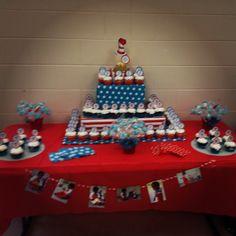 Dr. Seuss Cupcake Table