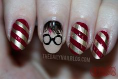 Harry Potter Nails. OMG these are all so cute!