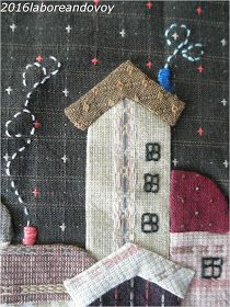 laboreandovoy: Tutorial funda con boquilla recta Needle And Thread, Embroidery Applique, Quilts, Holiday Decor, Flowers, Fabric, Crafts, Trees, Sewing Rooms