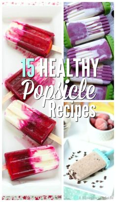 I want to share with you 15 healthy popsicle recipes you can make at home saving you money and your health. Want to know my little secret to making yummy popsicles. I just make my favorite smoothies and then add them to some popsicle molds. #ablossominglife #natutralliving #popsicles