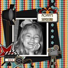 Michelle Coughlin's Gallery with Layouts, Projects and Photos. Scrapbook Sketches, Scrapbooking Layouts, Cinema Party, Superstar, Films, Movies, Kit, Baseball Cards, Digital