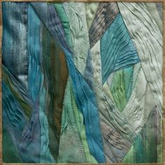 Fiber art and wearable art by Ludmila Aristova Textiles, Textile Patterns, Dress Patterns, Quilting Projects, Art Projects, Beginning Quilting, Abstract Embroidery, Miniature Quilts, Textile Fiber Art