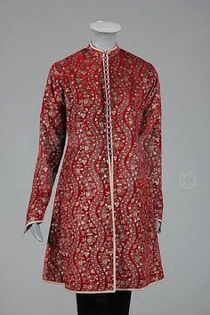 Mariano Fortuny stencilled red velvet jacket, circa 1920-30, with large circular label `Mariano Fortuny Venise', Kerry Taylor Auctions