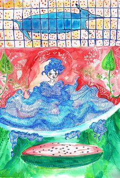 Aquacolor Summer Illustration