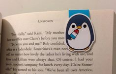 Magnetic Bookmarks • Penguin by HappyHelloCo on Etsy https://www.etsy.com/listing/256967976/magnetic-bookmarks-penguin