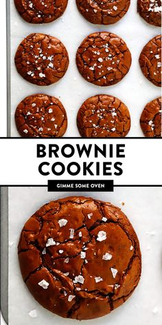 these salted chocolate brownie cookies! They are perfectly fudgy and rich on the inside, flaky and crinkly on the outside, sprinkled with the perfect crunch of flaky sea salt, and irresistibly DELICIOUS. Chocolate Brownie Cookie Recipe, Salted Chocolate, Chocolate Brownies, Chocolate Cookies, Chocolate Recipes, Chocolate Covered, Chocolate Heaven, Chocolate Color, Cookie Recipes