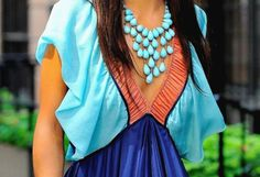 coral & blues.