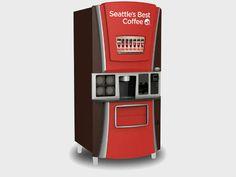 Máquina de vender café do Starbucks nos Estados Unidos
