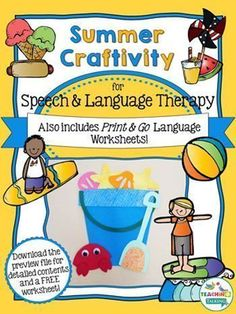 You'll love these language activities & cute Summer craftivity!